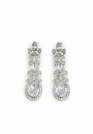 PCJIDI EARRINGS - Korvakorut - silver-coloured/clear