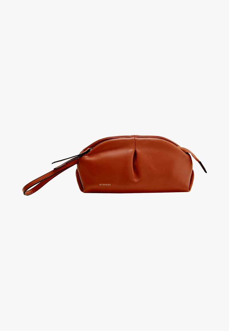 Uterqüe - MIT RAFFUNGEN - Pencil case - orange
