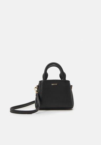MICRO SATCHEL SUTTON - Handbag - black/gold