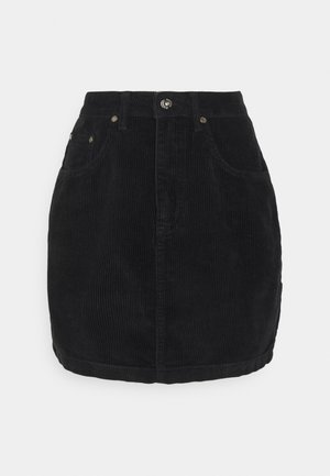 MIIN CORD  - Mini skirt - black