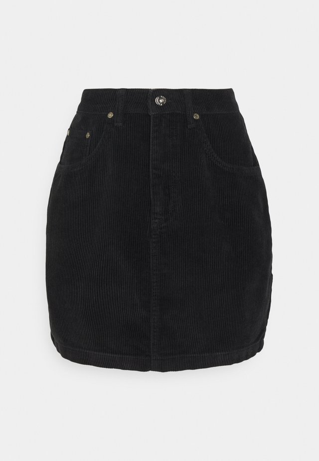 MIIN CORD  - Mini skirt - black