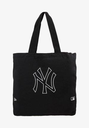TOTE - Tote bag - black/optic white
