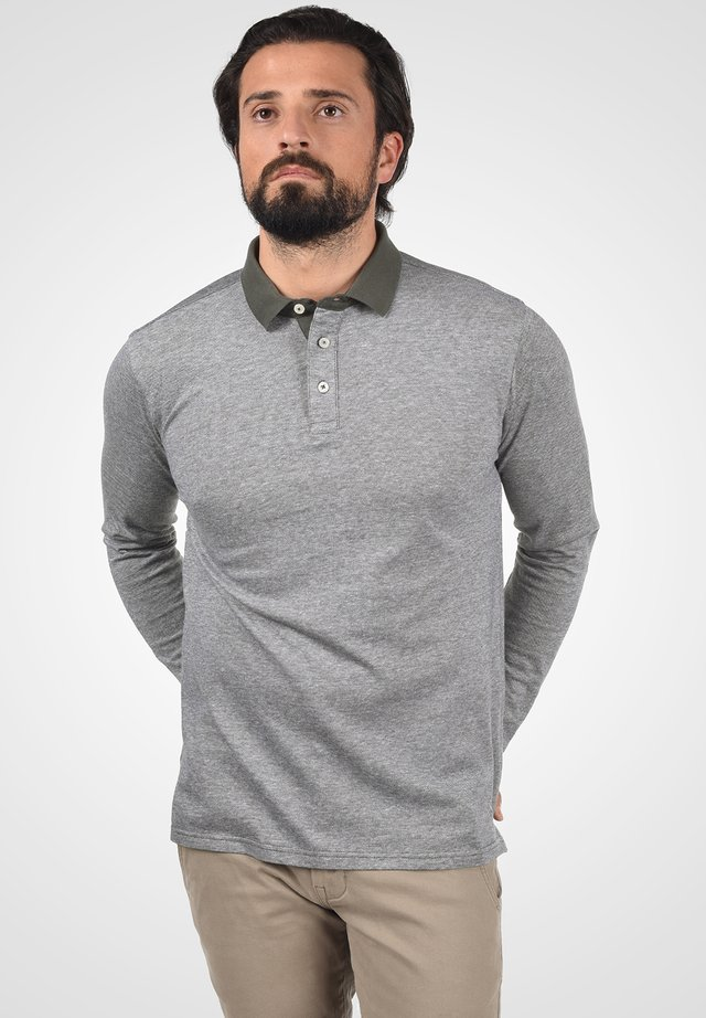 PANTOS - Polo - med grey melange