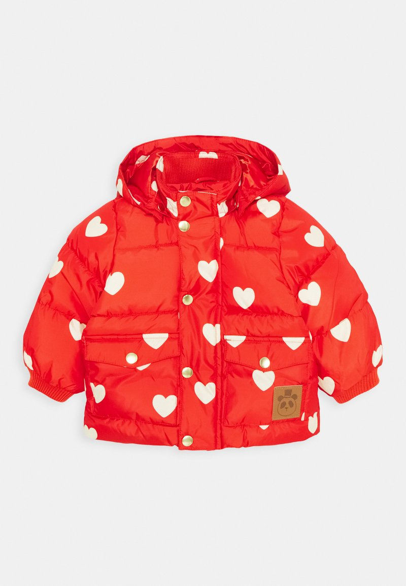 Mini Rodini - BABY HEARTS PICO PUFFER JACKET - Winter jacket - red