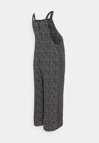 New Look Maternity - EC ZOYA SPOT HBONE POCKET  - Jumpsuit - black - 1
