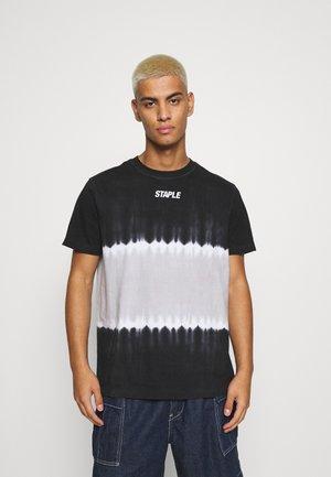 TIE DYE LOGO TEE UNISEX - Print T-shirt - black