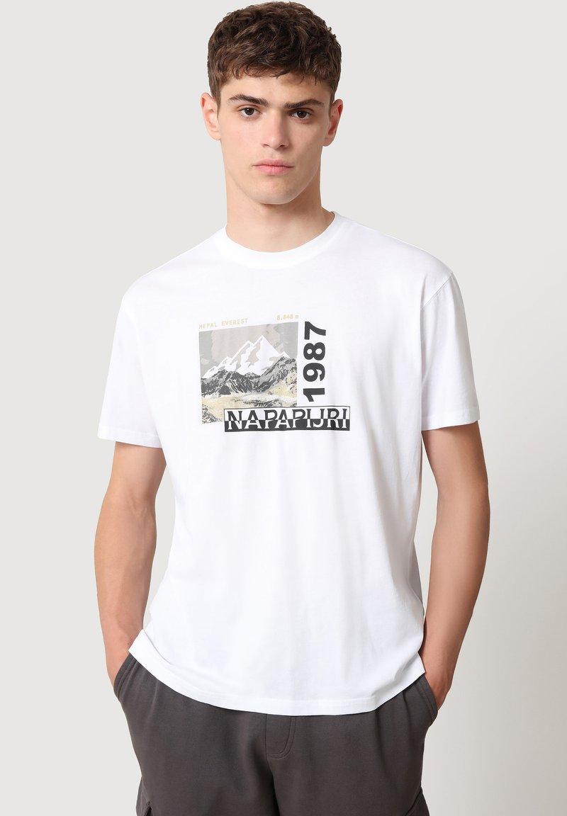 Napapijri - SULE - T-shirt print - white graphic