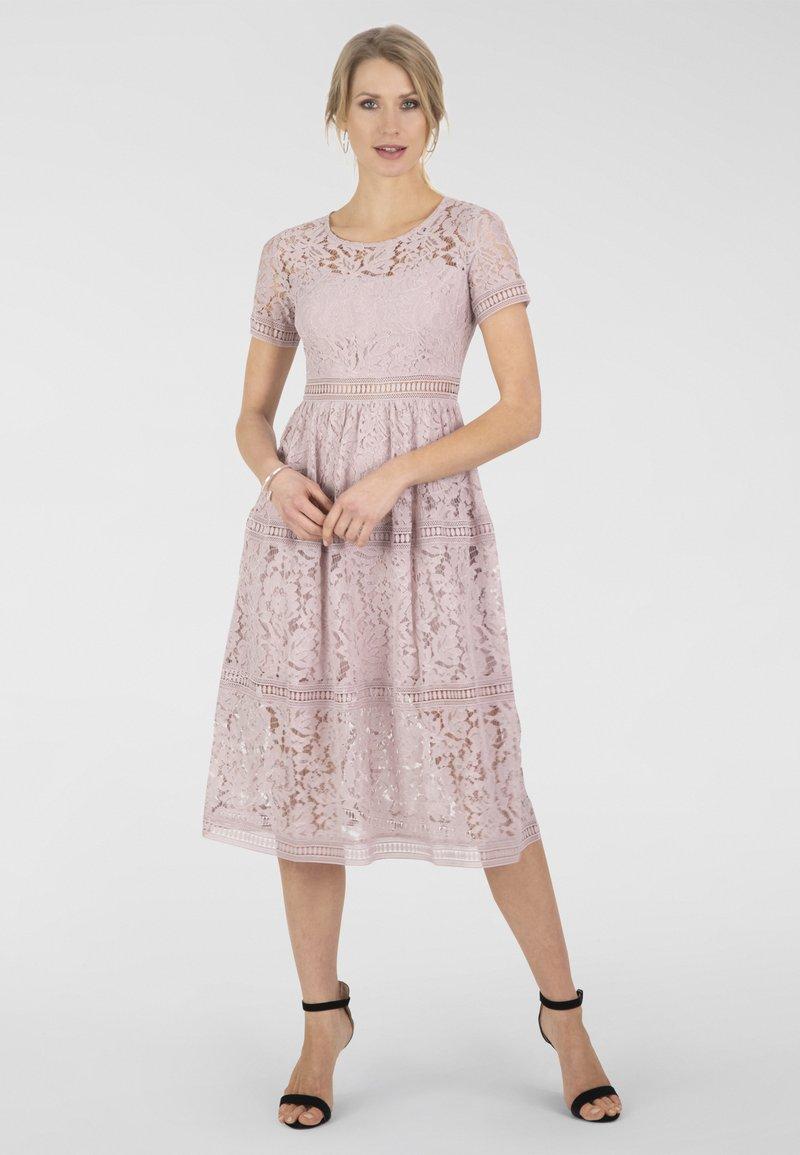 Apart Cocktailkleid Festliches Kleid Rose Pink Meliert Zalando De