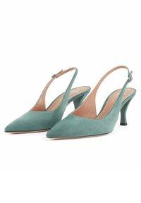 BOSS - OLIVIA SLING - Slingback ballet pumps - light green - 3