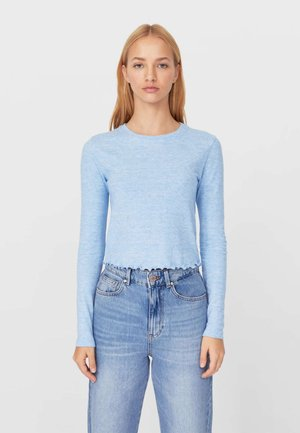 Long sleeved top - blue melange