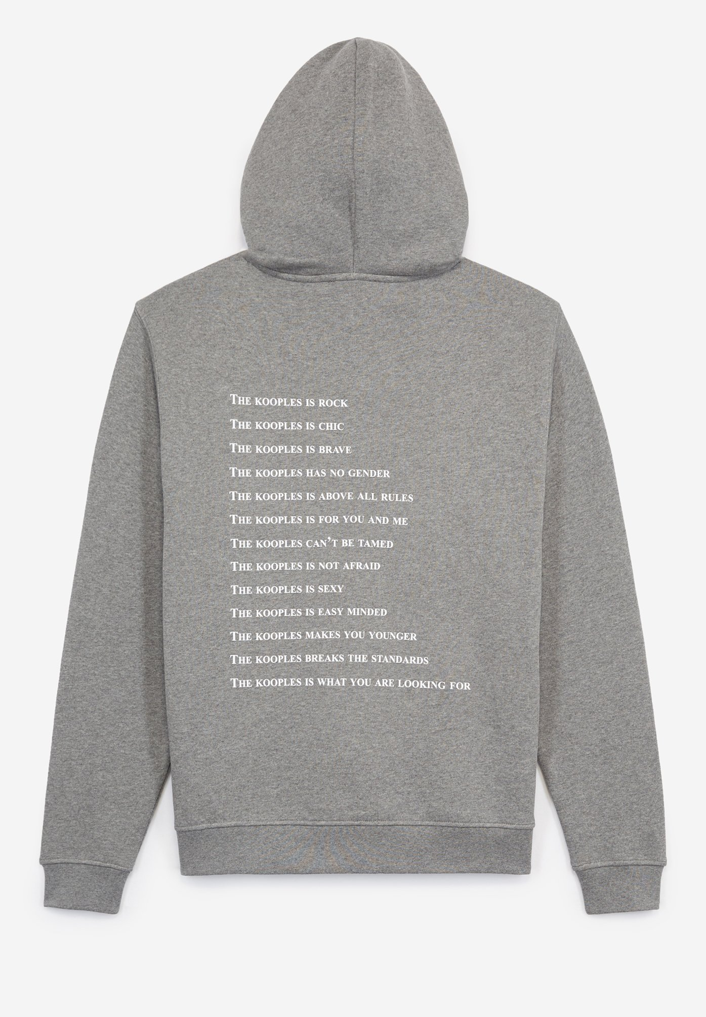 Homme BEDRUCKTES BAUMWOLL-SWEATSHIRT MIT KAPUZE - Sweatshirt