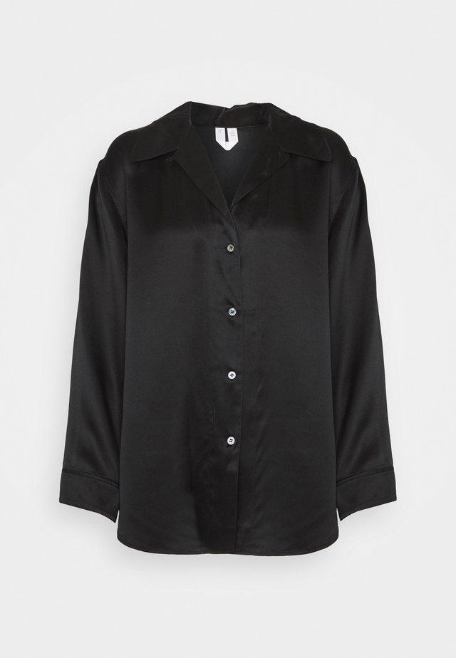 NIGHTWEAR - Pyjamashirt - black dark