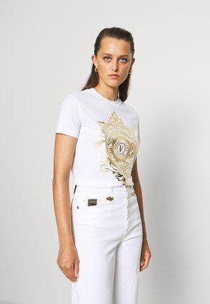 Camiseta estampada - white/gold