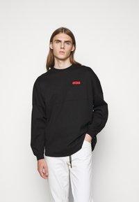 GCDS - ROUND LOGO TEE - Long sleeved top - black - 0