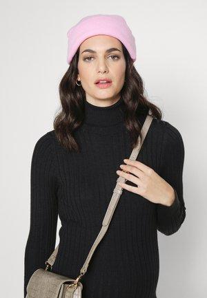ROLL NECK MIDI DRESS - Jumper dress - black
