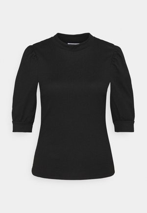 NMJESSICA SLEEVE PUFF TOP - T-shirt basique - black