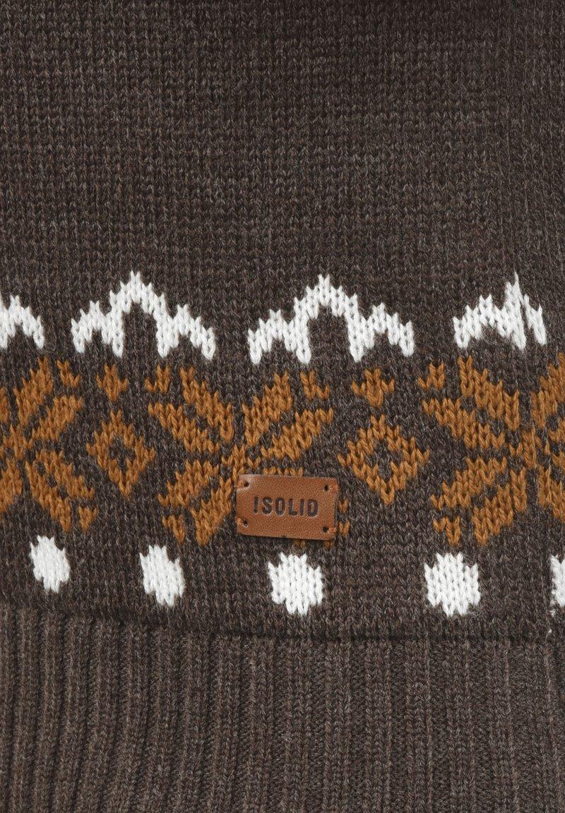 Solid NORWIG - Strickpullover - dark brown/dunkelbraun zCnLd0