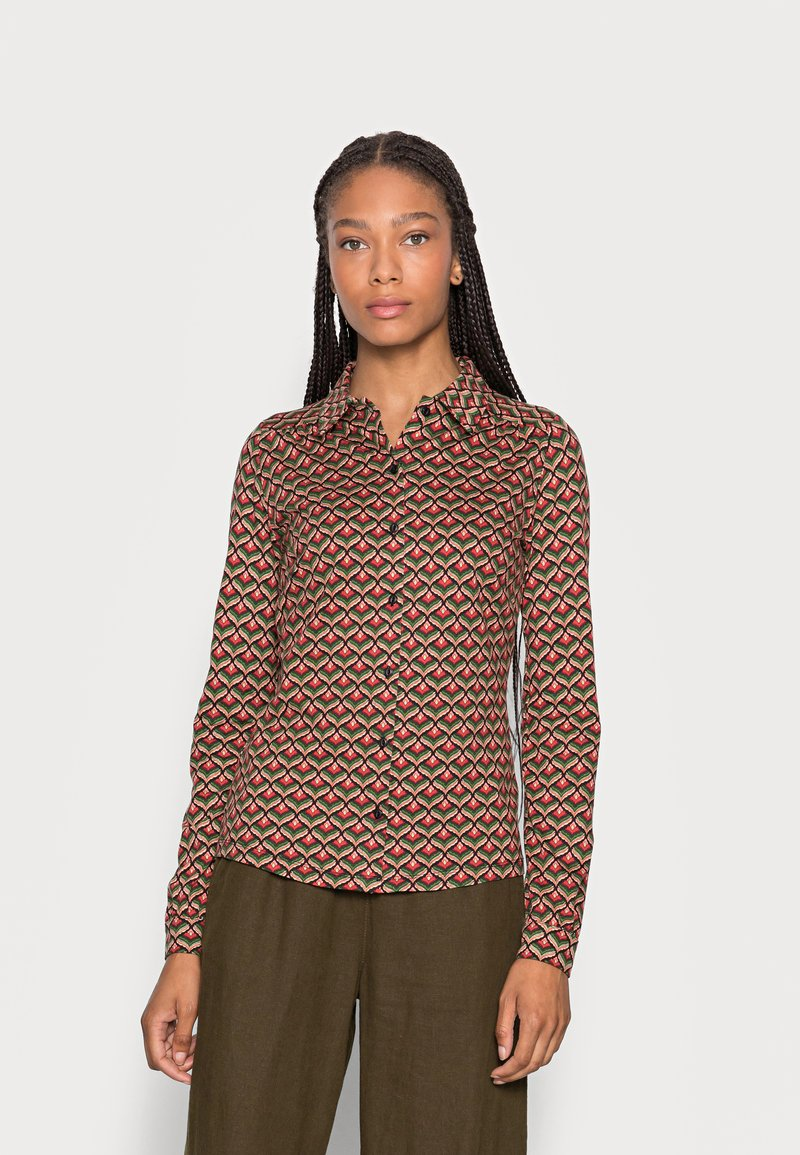 King Louie - BLOUSE RESIDENCE - Button-down blouse - berry red