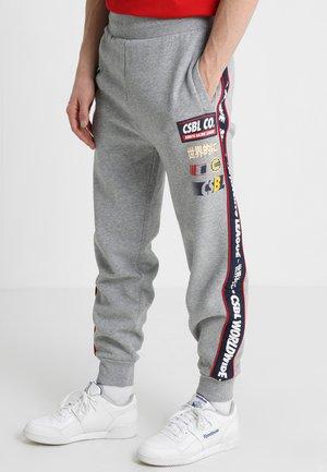 Tracksuit bottoms - heather grey/navy