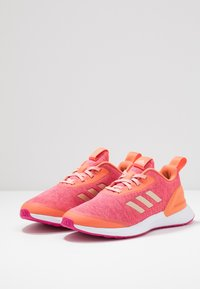 adidas Performance - RAPIDARUN X - Neutral running shoes - semi coral/copper metallic/real magenta - 3