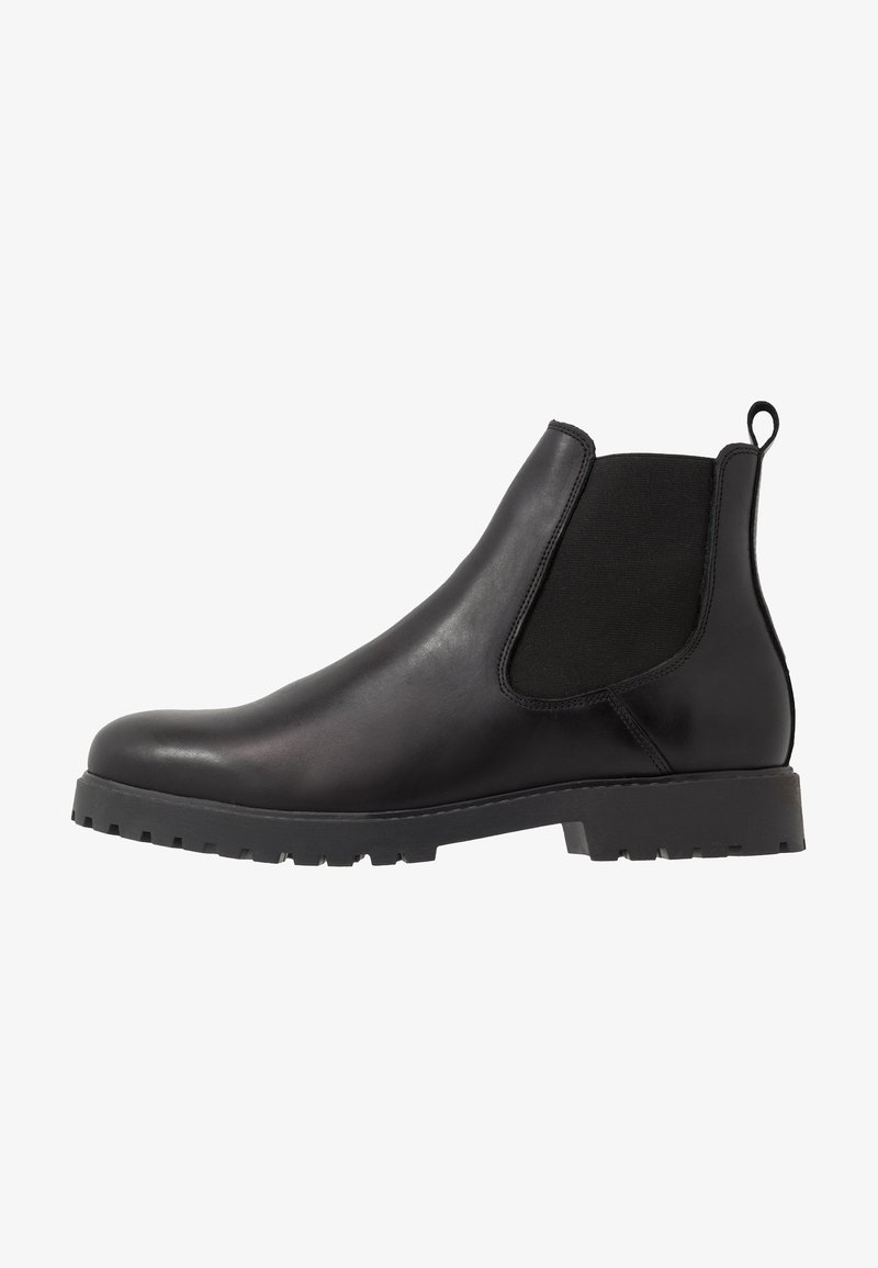Zign - LEATHER UNISEX - Classic ankle boots - black