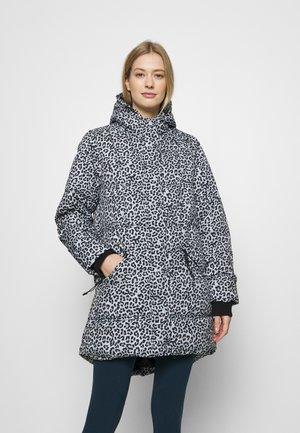 THE MOTHER MID LENGTH PUFFER - Winter coat - beige/black