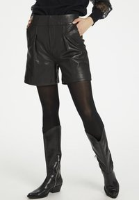 Denim Hunter - HUNTER DHENZO  - Leather trousers - black - 0