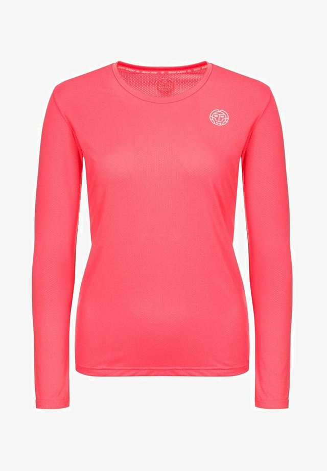 MINA - Long sleeved top - coral
