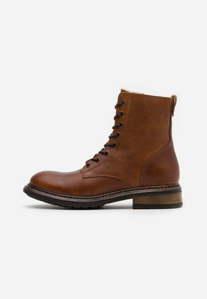 LEATHER  - Winter boots - cognac