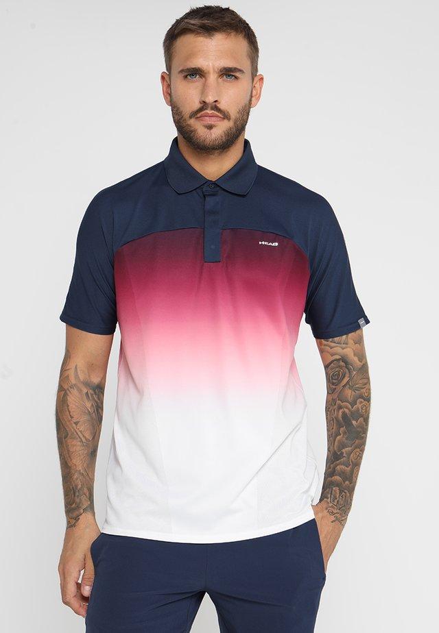 PERF  - Koszulka polo - darkblue/hibiscus