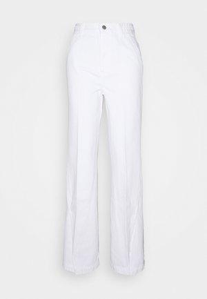 BRAIDED TROUSER JOAN - Flared Jeans - braided white