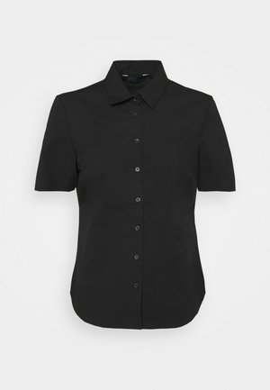 FITTED SHIRT - Button-down blouse - black