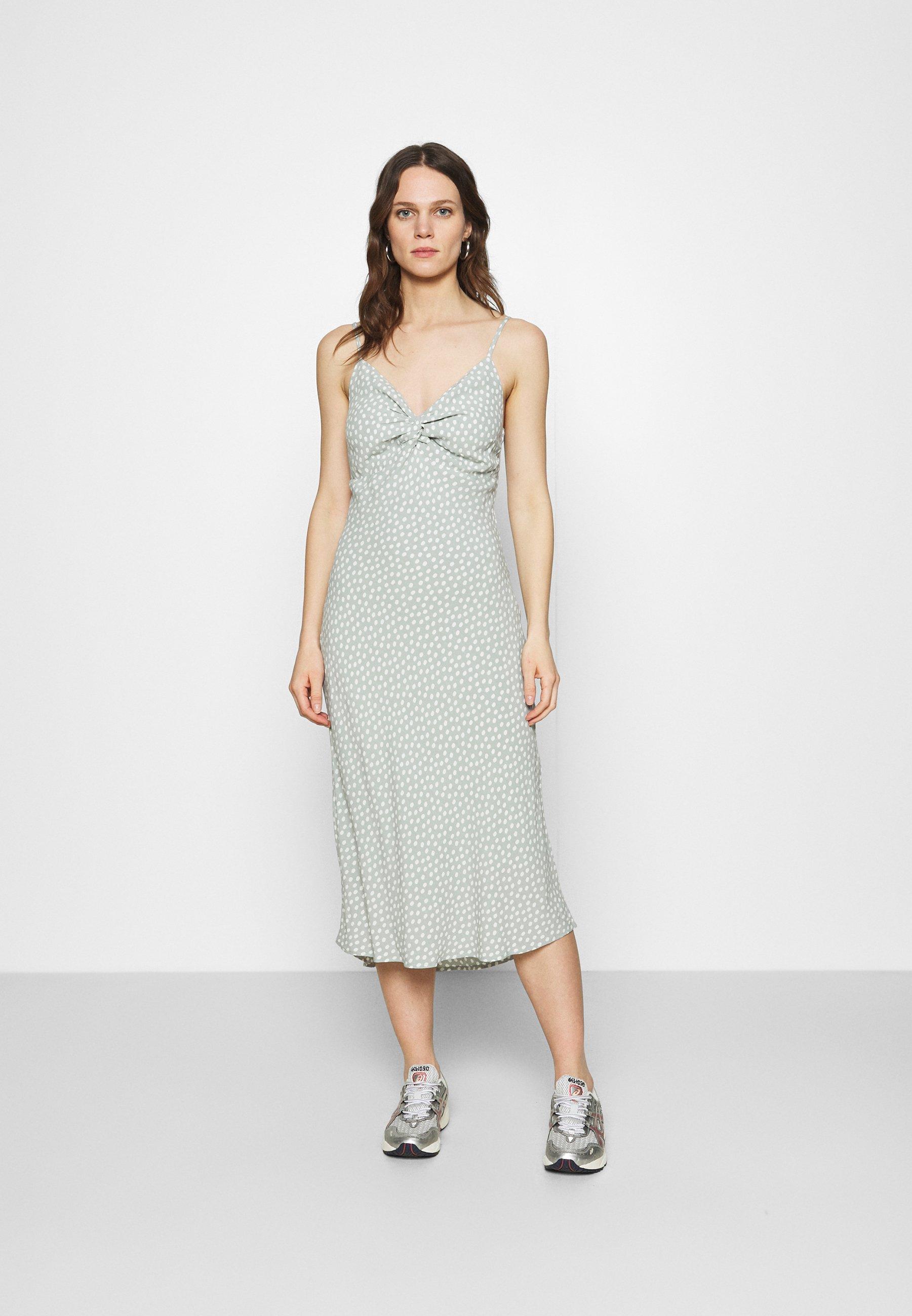 Women WIDE STRAP SLIP MIDI DRESS - Day dress