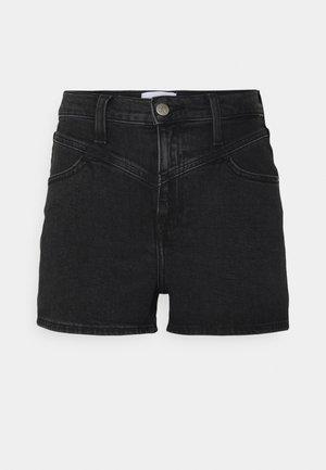 HIGH RISE SHORT - Denim shorts - black