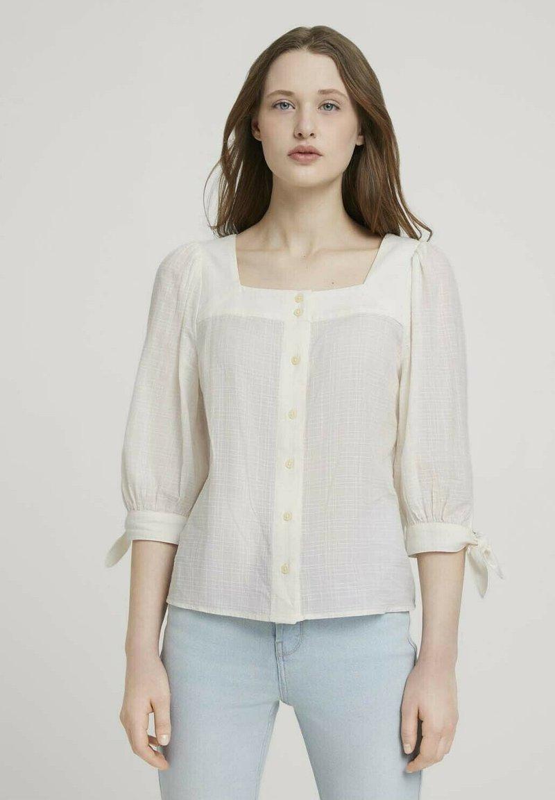 TOM TAILOR DENIM - Blouse - gardenia white