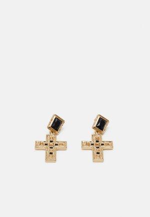 CROSS DROP - Øreringe - gold-coloured