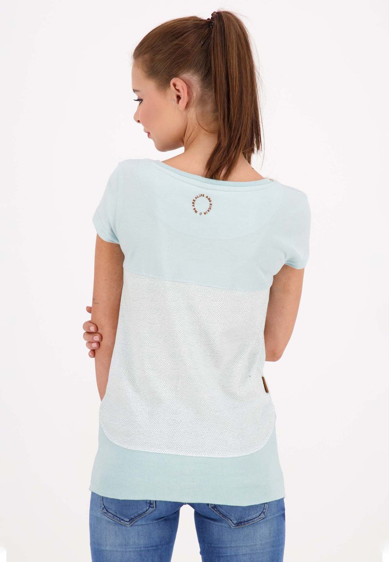 alife & kickin CORAAK - T-Shirt print - ice/hellblau JUwvew