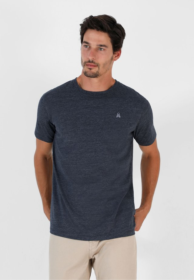 Camiseta estampada - navy melange