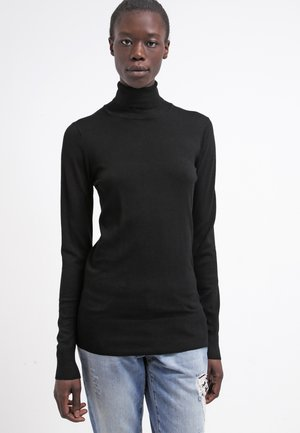 ASTRID ROLL NECK - Strikpullover /Striktrøjer - black deep