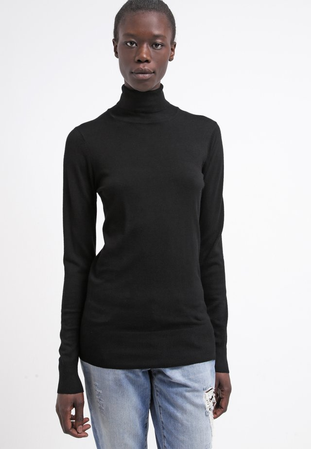 ASTRID ROLL NECK - Sweter - black deep