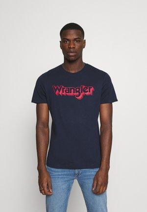 LOGO TEE - T-shirt med print - navy