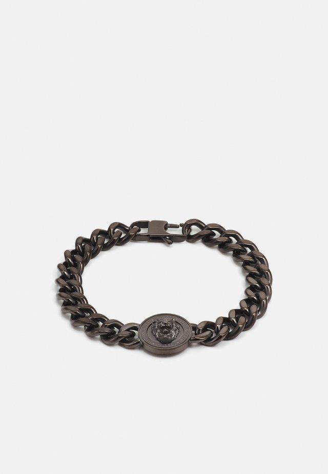 LION COIN CHAIN BRACELET UNISEX - Náramek - gunmetal