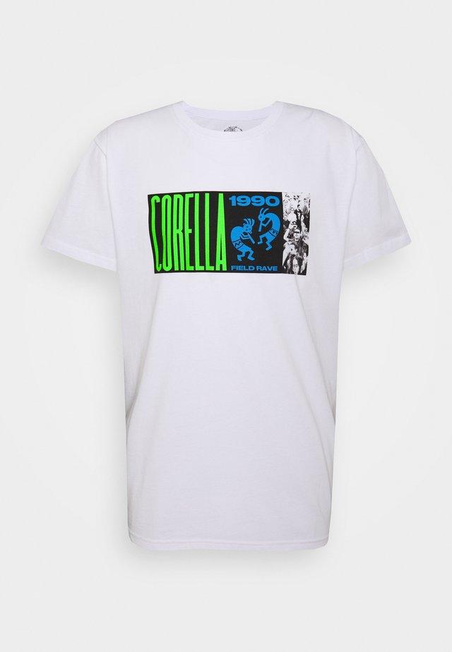 FIELD RAVER UNISEX - T-shirt print - white