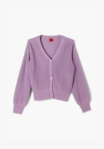 MIT RIPPSTRUKTUR - Cardigan - light purple