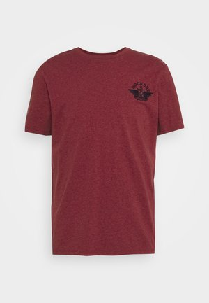 LOGO TEE - Camiseta estampada - warm cinnabar/chestnut red