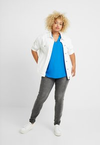 CAPSULE by Simply Be - LADDER INSERT TUNIC - Bluser - cobalt blue - 2