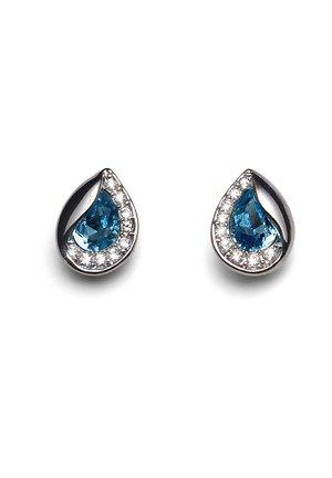HIDDEN - Earrings - blau