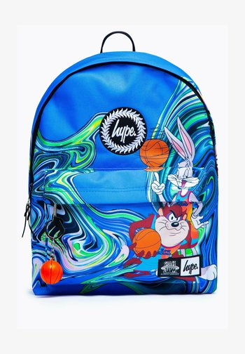 SPACE JAM TAZ AND DAFFY DUCK MARBLE - Rucksack - blue