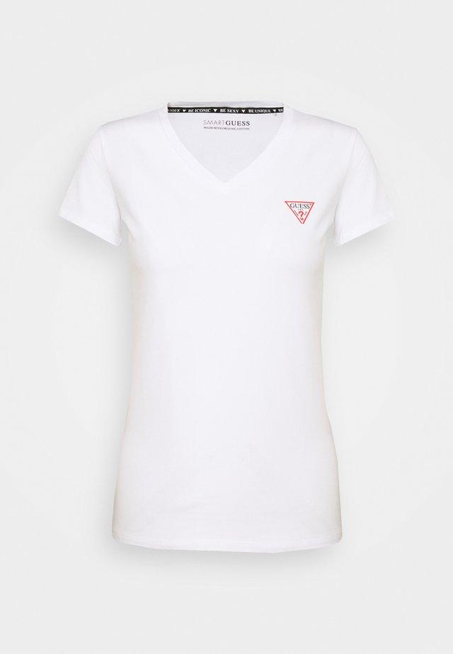 MINI TRIANGLE TEE - Print T-shirt - pure white