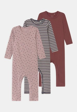 NBFRONLA 3 PACK - Pyjamas - dark sapphire/wild ginger